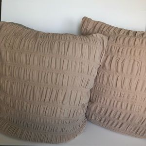 Pair of Nicole Miller Euro Shams great condition